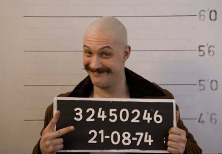 Tom Hardy as Charles Bronson, the most famous, charismatic, and violent prisoners in England.