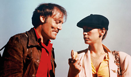 Stacy Keach and Jamie Lee Curtis have great chemistry in Roadgames.